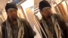 Attacker brutally beats 78yo woman on NYC subway as bystanders look on & film (GRAPHIC VIDEO)