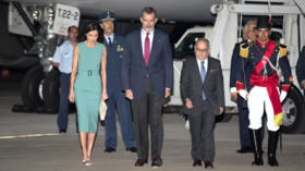 Royal mess! Spanish king stuck on plane on Buenos Aires runway because airstairs were too short