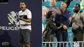 'He called me a d**k': Nick Kyrgios inflames fiery on-court spat with fan