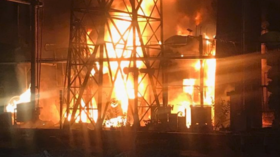 Venezuelan minister shows scorched power plant, blames 'terrorists' for blackout (PHOTOS)