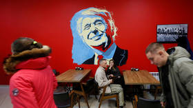 Customers visit Trump Burger, the second burger joint recently opened by a new Russian diner named after U.S. President Donald Trump, in Krasnoyarsk, Russia