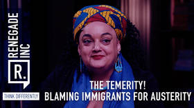The temerity! Blaming immigrants for austerity...