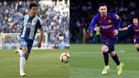 Wu the man! Chinese star Wu Lei upstages Messi as he makes history with late equalizer for Espanyol vs Barcelona (VIDEO)