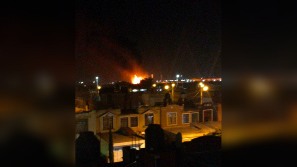 15-meter wall of fire as pipeline explosion rocks Leon, Mexico (PHOTOS, VIDEO)