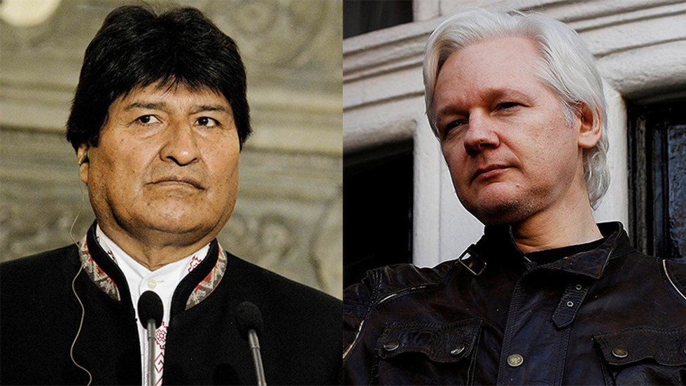 Bolivian president condemns 'persecution of Assange over US' murders & spying'