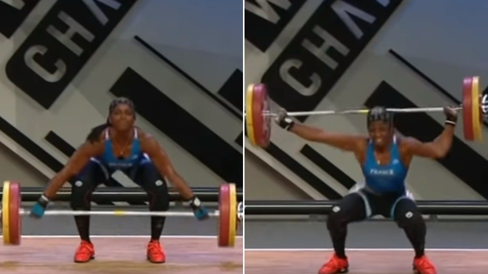 821e065df9 French female weightlifter breaks arm in two places during 110kg attempt  (GRAPHIC VIDEO) — RT Sport News