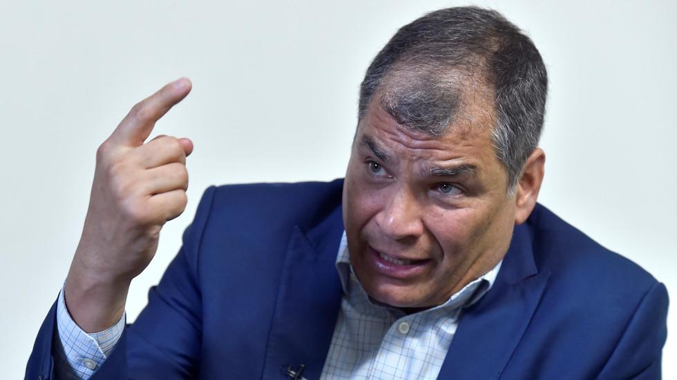 Outspoken Ecuadorian ex-president Rafael Correa's Facebook page blocked