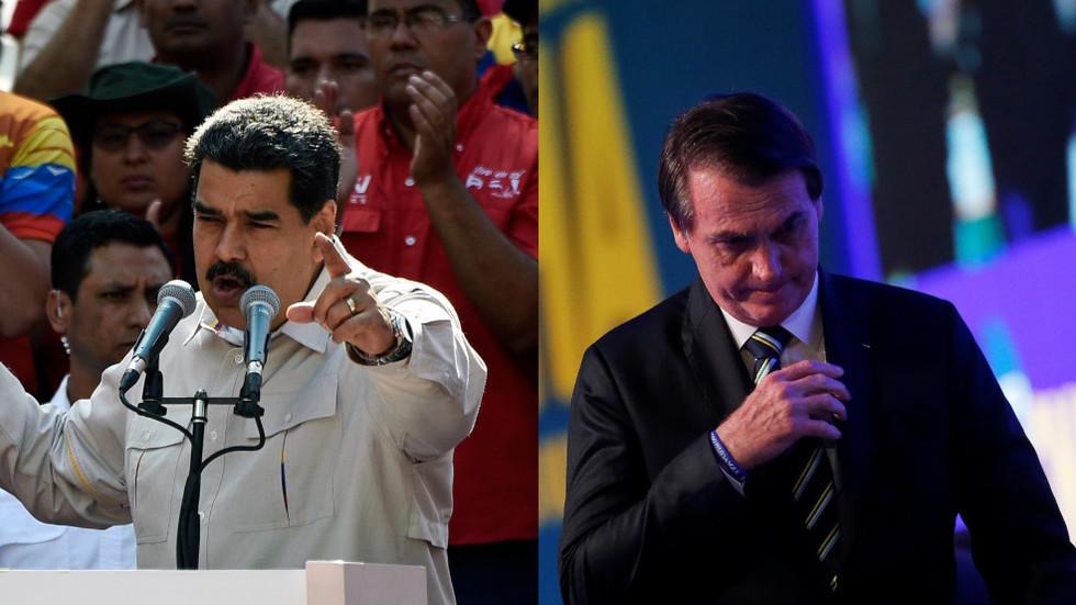 Maduro tells Brazilian Army to resist 'fascist rookie' Bolsonaro's orders to intervene in Venezuela