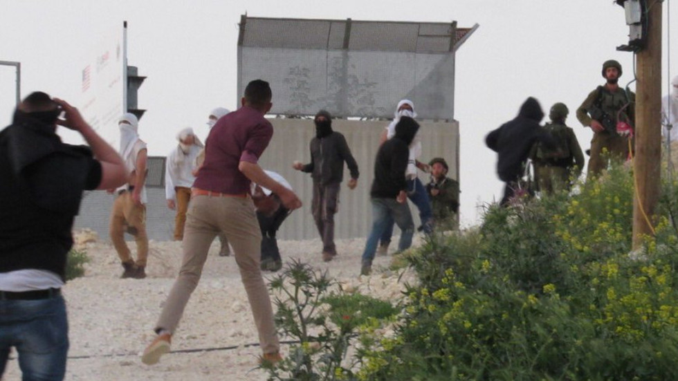 Palestinian family attacked with stones as Israeli settlers storm village in West Bank
