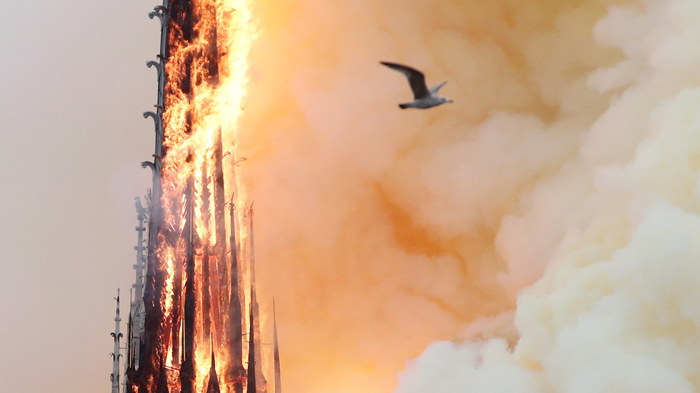 Notre Dame fire follows months of arson, vandalism & desecration of French Catholic churches