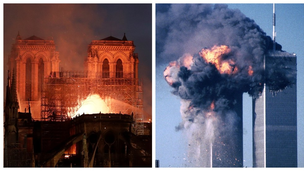 YouTube's 'conspiracy filter' tags Notre Dame fire videos with 9/11 info