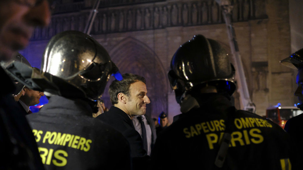 Macron calls for national unity, rebuilding Notre Dame Cathedral in 5 years