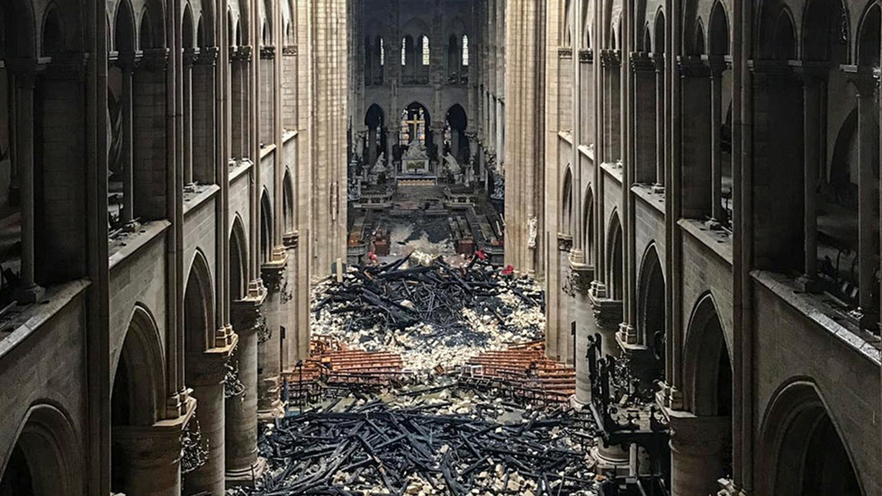Devastation Of Notre Dame Interior Captured In
