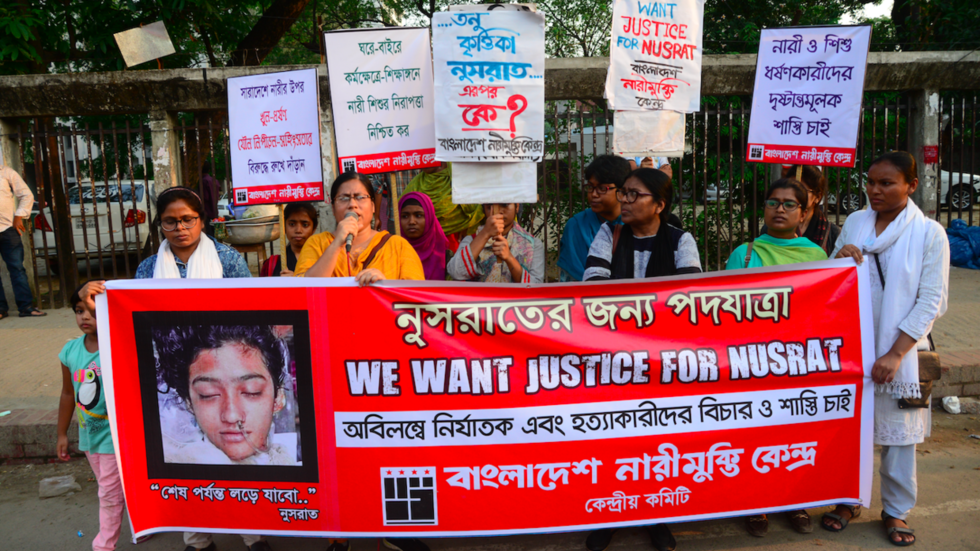 Tragic death of Bangladeshi student set on fire for reporting abuse provokes anger across the world