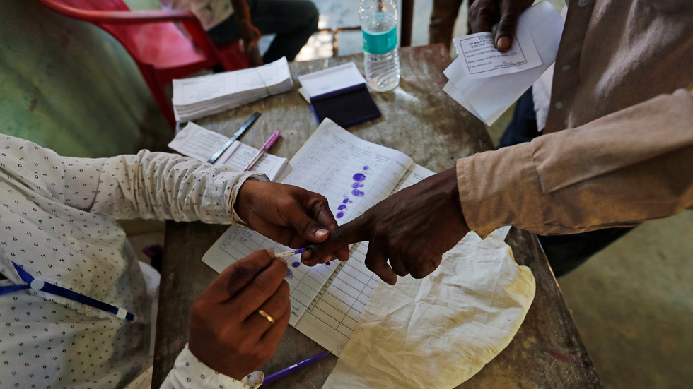 Indian man 'chops off finger' after voting for wrong party by mistake