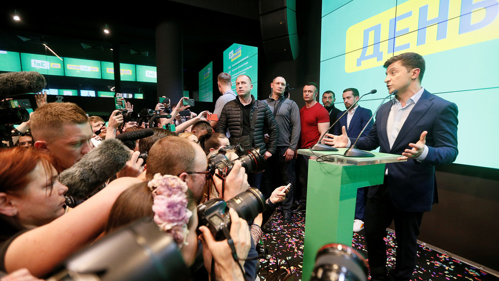 Ukraine's president-in-waiting Zelensky vows to end conflict in Donbass with 'POWERFUL INFOWAR'