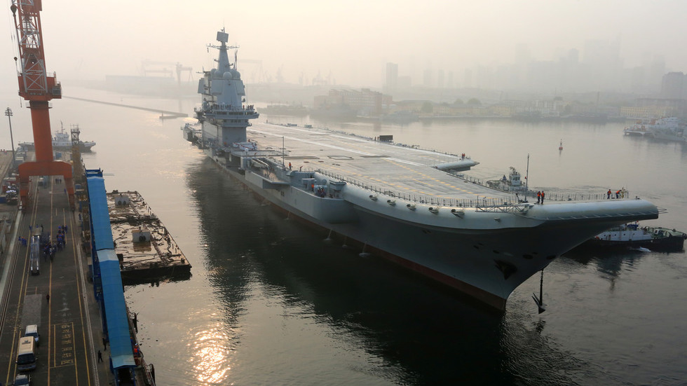 VIDEO shows China's 1st home-built aircraft carrier in action during sea trials
