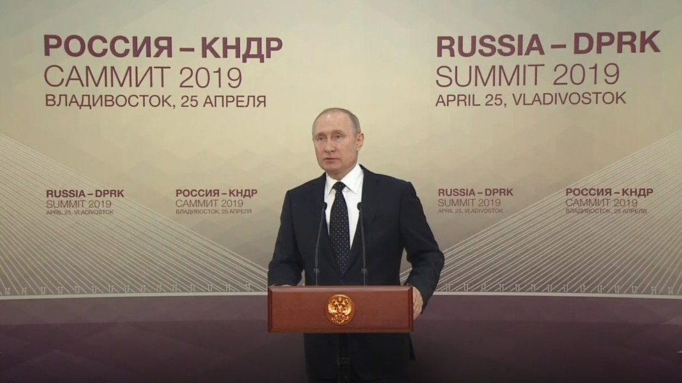Putin holds press conference after meeting Kim Jong-un for very first time