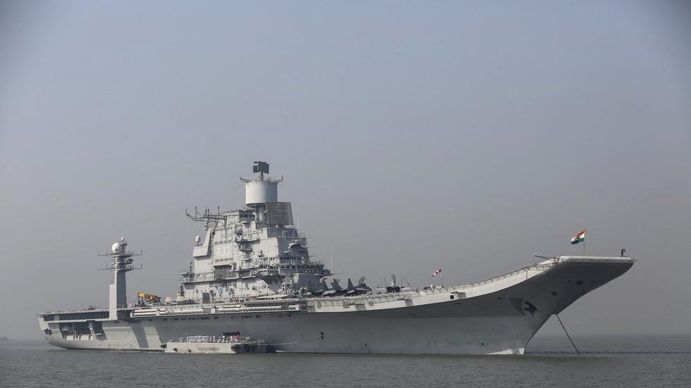 Naval officer dies battling flames on India's biggest warship
