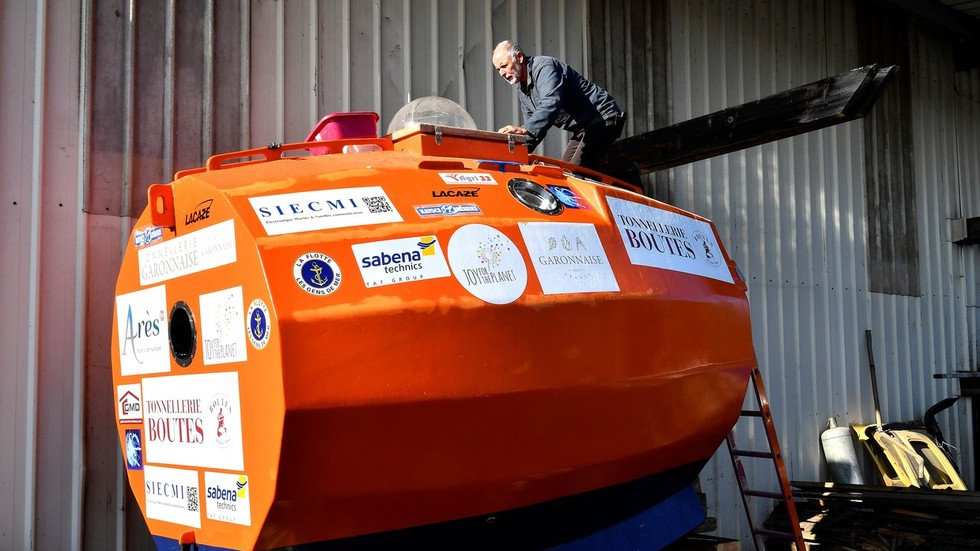 WATCH 72yo Frenchman cross Atlantic in a 'BARREL'