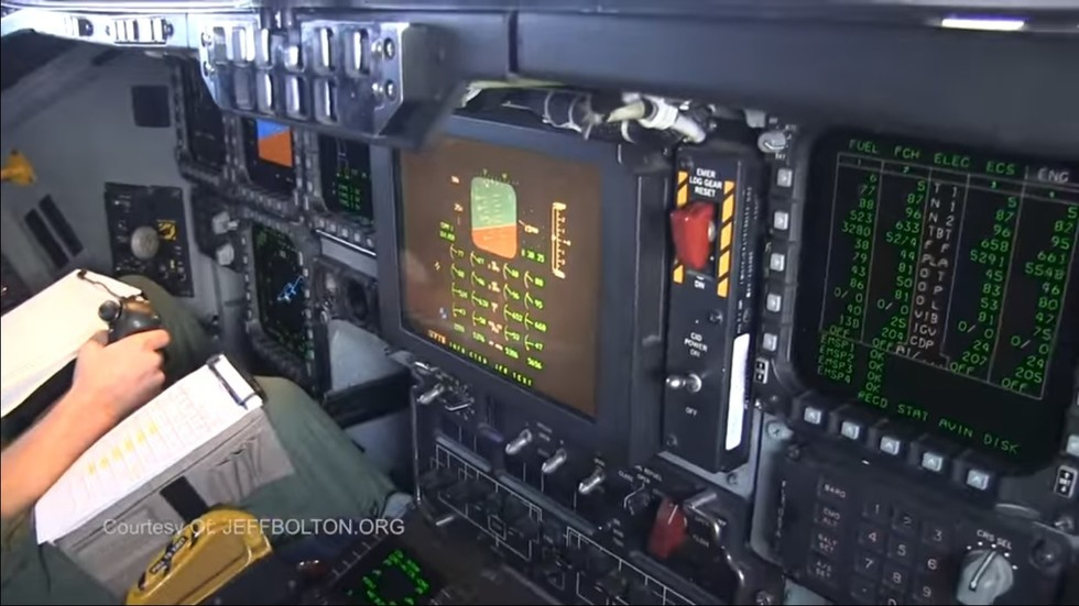 B-2 bomber cockpit shown FROM INSIDE for first time in air refueling VIDEO