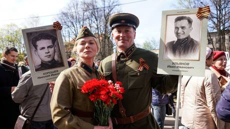 Victory day celebrations in Riga, Latvia © Sputnik / Sergey Melkonov