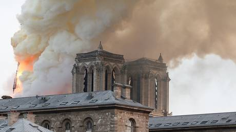 'Part of us is burning': Macron tweets as iconic Notre Dame Cathedral is on fire