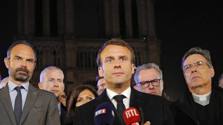 'French history on fire': Macron vows to rebuild Notre Dame with help of greatest talents worldwide