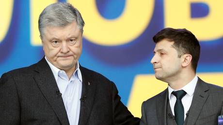 'I'm not your opponent, I'm your sentence!' Ukraine presidential hopefuls trade jabs in last debate