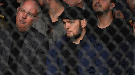 Khabib in the house! UFC lightweight king watches octagon action in St. Petersburg