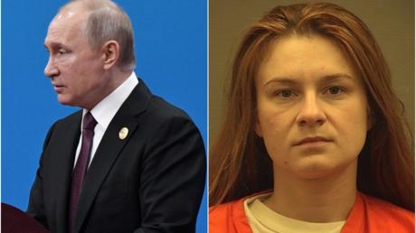 Russian president Vladimir Putin © Reuters/Sputnik/Aleksey Nikolskyi ; Maria Butina © Reuters
