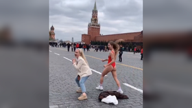 Virtual duel of two Instagram users led to stripping dance in front of Lenin's tomb (PHOTOS)