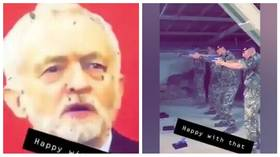 Corbyn in the crosshairs: British soldiers filmed firing at photo of Labour leader, army to probe