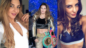 Lady Hammer - Meet the boxer & underwear model hoping to unify the world middleweight belts (PHOTOS)
