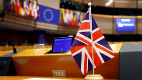 A British Union Jack flag in the European Parliament in Brussels. © Reuters/Francois Lenoir