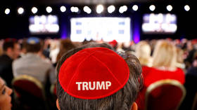 'This is unholy': Twitter aghast as red Trump yarmulkes sported at Jewish event