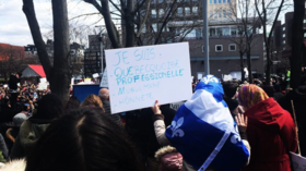 Québec protesters decry 'discriminatory' bill banning religious symbols on state workers (VIDEOS)