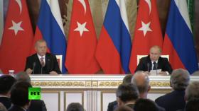 Buying S-400 Turkey's 'sovereign right': Putin & Erdogan speak to press in Moscow