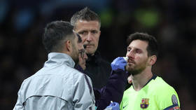 'Collect his blood and clone him!': Lionel Messi stuck with gruesome facial injury in CL QF (PHOTOS)