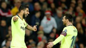 Suarez beats boos boys as Barcelona lead Man United 1-0 in UCL quarterfinal