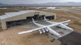 Giant space rocket carrier plane with world's LONGEST WINGS makes maiden flight (VIDEO)