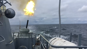 WATCH Russian corvettes unleash hurricane-like gunfire in Baltic Sea