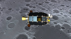 Artist's rendering of the LADEE craft over the moon © Dana Berry / NASA Ames / Handout via Reuters