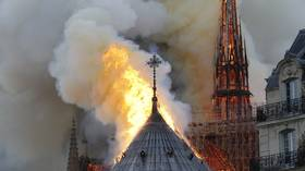 France's Macron cancels planned address to the nation due to 'terrible fire' at Notre Dame cathedral
