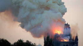 Towering inferno at Notre Dame Cathedral captured by police drone