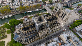 Heart-wrenching aftermath of Notre Dame fire in aerial 360 PANORAMA