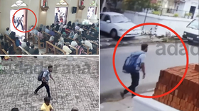 Chilling VIDEO shows suspected Sri Lanka church bomber moments before explosion