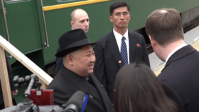 Riding in style: Watch Kim Jong-un's armored train arrive in Russia for 1st-ever state visit