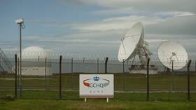 Satellite dishes are seen at GCHQ's outpost at Bude © REUTERS/Kieran Doherty