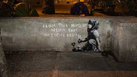 Speculation mounts that Banksy has left his mark on Extinction Rebellion protests